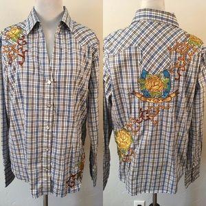 Panhandle Slim Ladies Snap Front Shirt large L